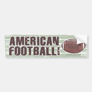 American Football Bumpersticker Car Bumper Sticker