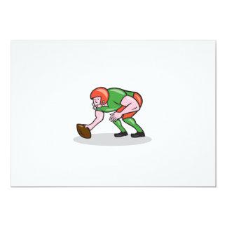 American Football Center Snap Side Cartoon Invites