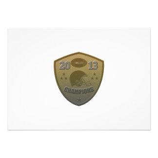 american football champions shield 2013 custom invites