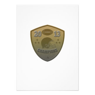 american football champions shield 2013 personalized announcements