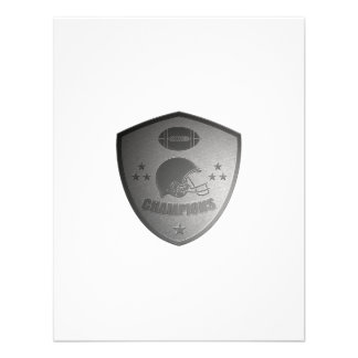 american football champions shield personalized invitations