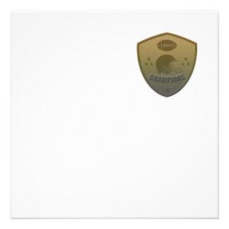 american football champions shield custom invite