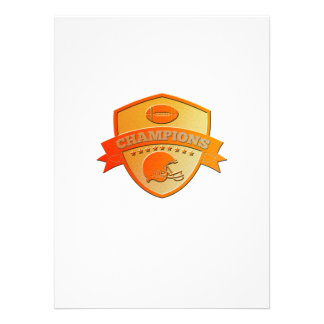 american football champions shield personalized announcement
