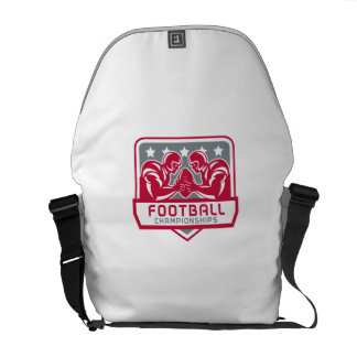American Football Championship Crest Retro Courier Bag
