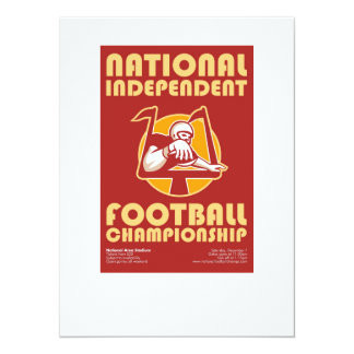 American Football Championship Poster Art 5.5x7.5 Paper Invitation Card