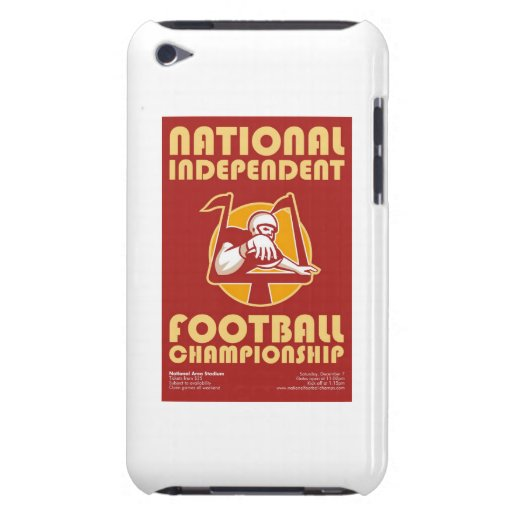 American Football Championship Poster Art iPod Touch Case-Mate Case