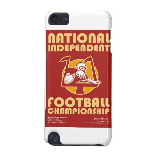 American Football Championship Poster Art iPod Touch (5th Generation) Cases