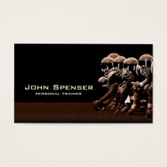 American Football Coach Business Card at Zazzle