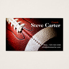 American Football Coach Or Player Card Club Sport at Zazzle