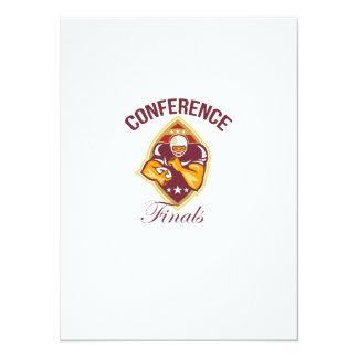 American Football Conference Finals Ball 14 Cm X 19 Cm Invitation Card