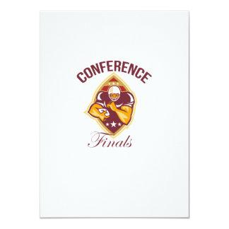 American Football Conference Finals Ball 11 Cm X 16 Cm Invitation Card