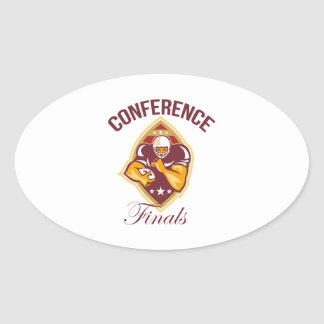 American Football Conference Finals Ball Stickers