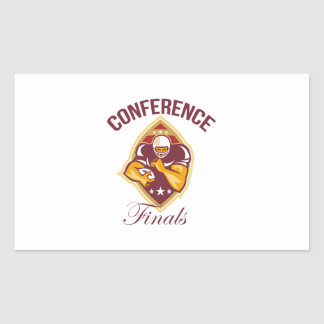 American Football Conference Finals Ball Rectangle Stickers