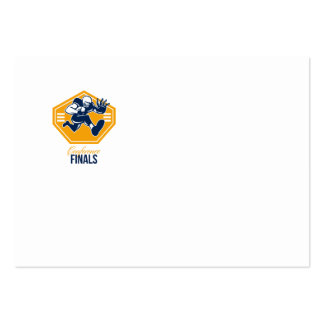 American Football Conference Finals Shield Retro Business Card Templates
