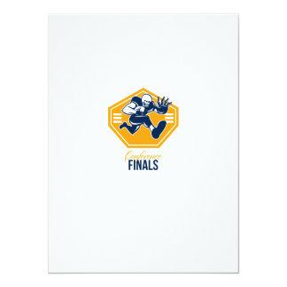 American Football Conference Finals Shield Retro 14 Cm X 19 Cm Invitation Card