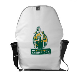American Football Division Champions Retro Messenger Bag