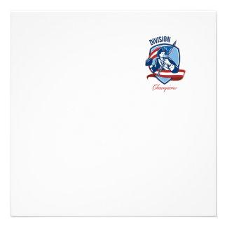American Football Division Champions Shield Retro Custom Announcements