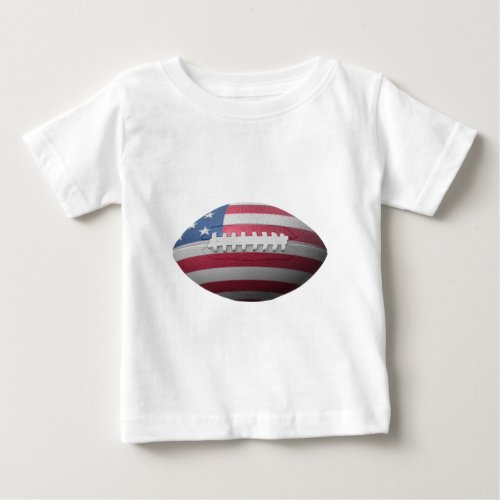 American Football Flag Baby T_Shirt