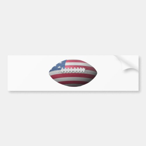 American Football Flag Bumper Sticker