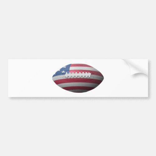 American Football Flag Bumper Sticker