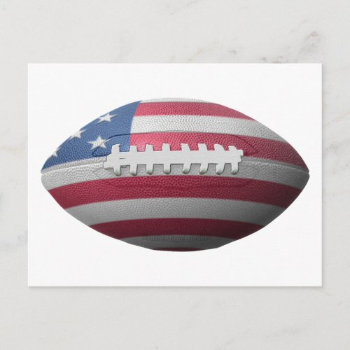 American Football Flag Postcard