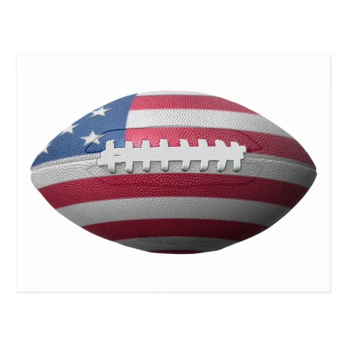 American Football Flag Postcard