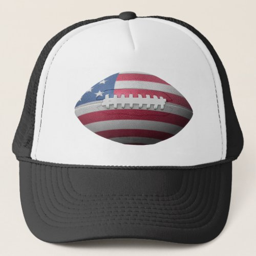 American Football Flag Trucker Hat