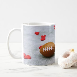 American football for Soccer with love on white Coffee Mug