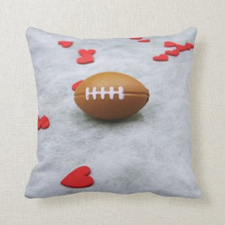 American football for Soccer with love on white Throw Pillow