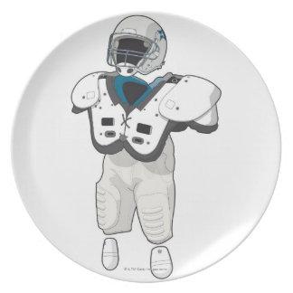 American football gear dinner plate