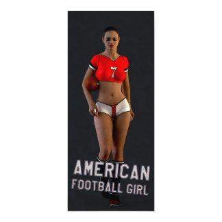 American Football Girl Chablis 4x9.25 Paper Invitation Card