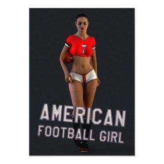 American Football Girl Chablis 5x7 Paper Invitation Card