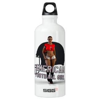 American Football Girl Chablis Aluminum Water Bottle
