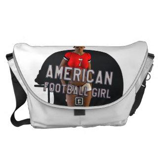 American Football Girl Chablis Messenger Bag