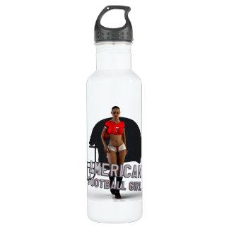 American Football Girl Chablis Stainless Steel Water Bottle