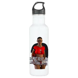 American Football Girl Chablis Water Bottle