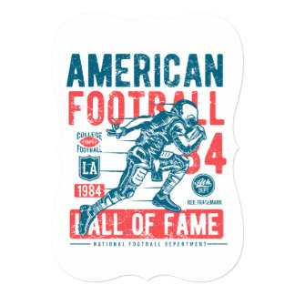 American Football Hall Of Fame Card