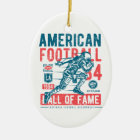 American Football Hall Of Fame Ceramic Ornament