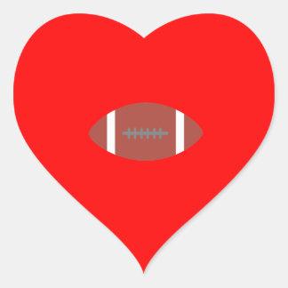American Football Heart Sticker