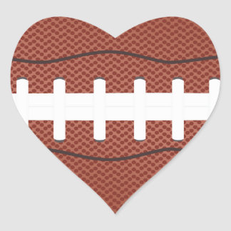 american football heart sticker