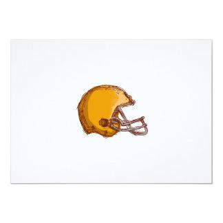 American Football Helmet Drawing 5x7 Paper Invitation Card