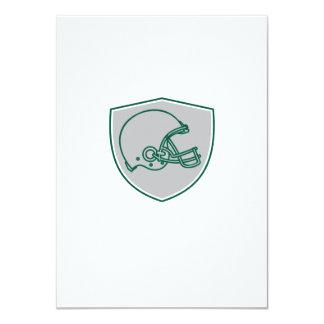 American Football Helmet Line Drawing Retro 4.5x6.25 Paper Invitation Card