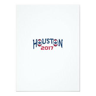 American Football Houston 2017 Word Retro Card