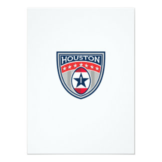 American Football Houston Stars Stripes Crest Retr Card