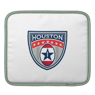 American Football Houston Stars Stripes Crest Retr Sleeve For iPads