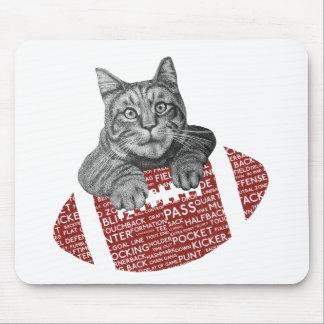 American Football Loving Cat Mouse Pad