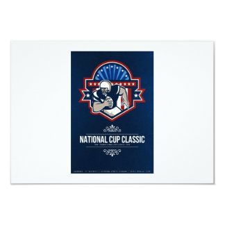 American Football National Cup Classic Poster 3.5x5 Paper Invitation Card