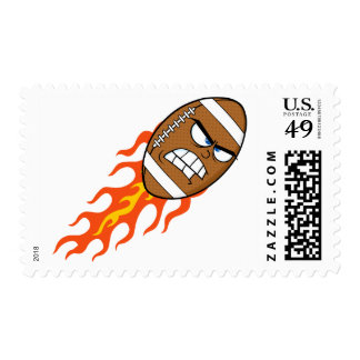 American Football On Fire Postage