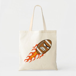 American Football On Fire Tote Bag