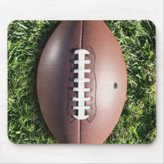 American football on grass mouse pad